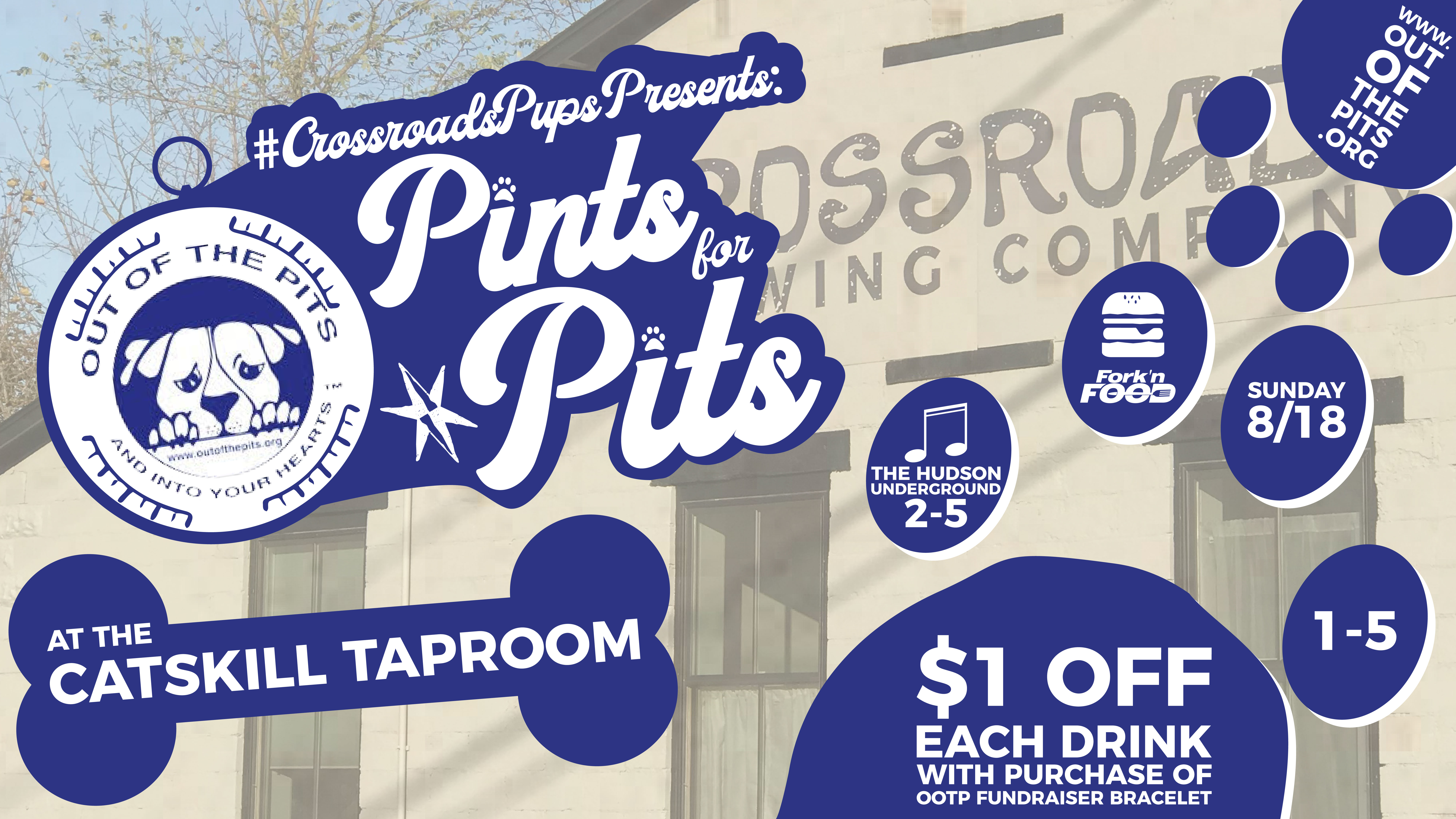 Pints for Pits Fundraiser Ad